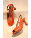 MZ small size womens suede mary jane pump