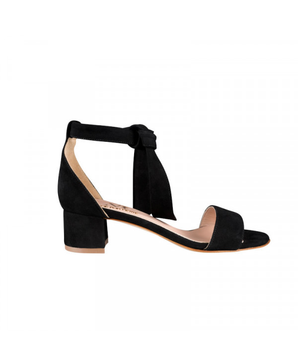 MZ small size womens wrap suede pump