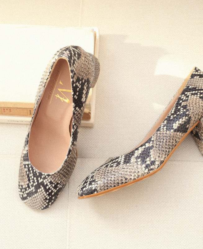 Python Pumps with block heel and squared toe PIA PYTHON