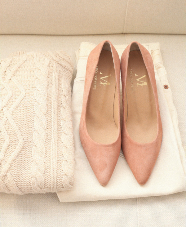 Pink pumps small heel pointed toe MARA NATURAL