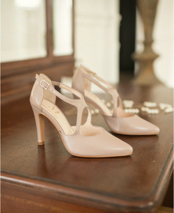 Pink Pumps High Heels cross straps GAVINO